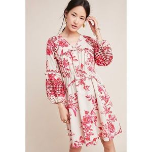 ANTHROPOLOGIE Thomasine Embroidered Floral Tunic